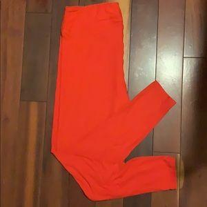 TC Lularoe Red Leggings brand new